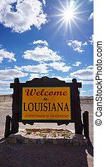 歡迎, 路易斯安那, 路, 簽署