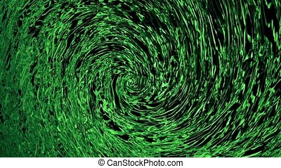 Abstract flowing background in green color