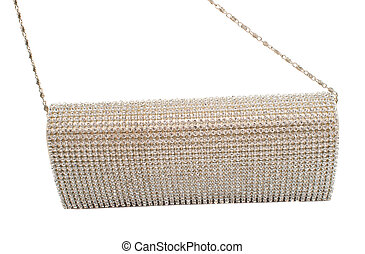 clutch bag on a white background