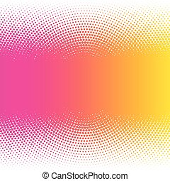 Abstract colorful halftone dots horizontal vector illustration