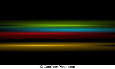 Colorful glowing stripes video animation