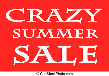 The words Crazy Summer Sale on background