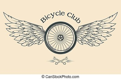 Bicycle Wheel with feathers. - Bicycle Wheel with feathers...