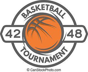 Basketball template Logo, badge, emblem. - Basketball...