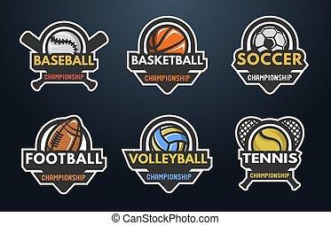 Conjunto, Logotipos, deportes
