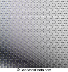Abstract background of hexagons.