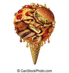 Summer Junk food Concept