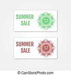 Summer Sale collection. Vector Summer price tags.