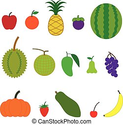 Fruit Cartoon Style