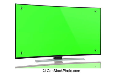 UltraHD Tv Curved green screen - UltraHD Smart Tv with...