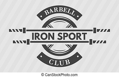 Iron sport, disk weight and barbell. - Iron sport. Disk...