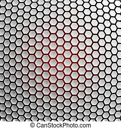 Hexagons abstract background.