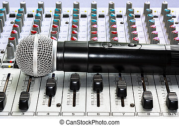 Mixer and microphone - Mixing console and a wireless...