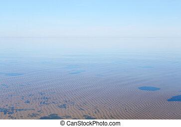 Ladoga lake at morning. - Ladoga lake at sunny morning, the...