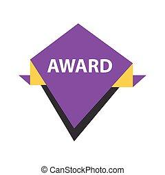 Award Label design  Purple, yellow, black