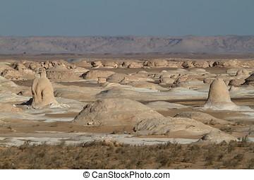 White Desert in the Sahara of Egypt