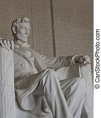 lincoln memorial with Four Score and Seven Years Ago Speech...