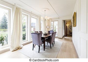 Beautiful dining room in elegant style - Spacious dining...