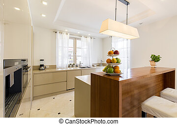 Light and spacious kitchen - Spacious kitchen in modern...