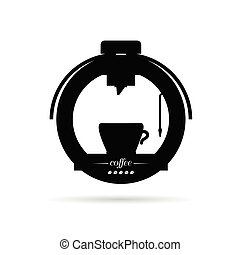 coffee machine drink black icon illustration