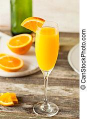 arancia,  mimosa, cocktail, rinfrescante, casalingo