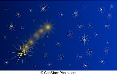 falling star, blue background with stars,starry sky