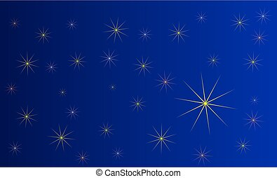 blue background with stars,