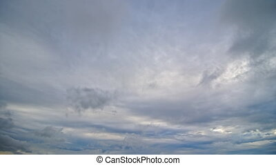 Cumulonimbus clouds with the expressed stratification