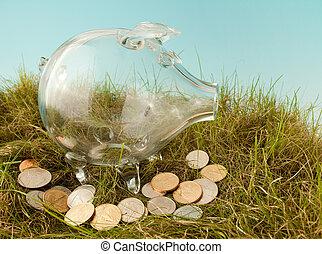 Dollars in grass