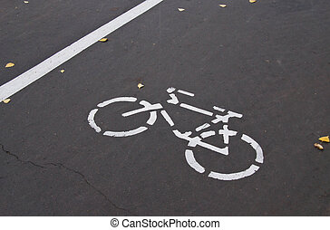 road markings for bike - road markings for bicycle on the...