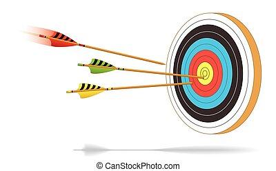 archery arrows on target motion 1 - archery arrows in motion...