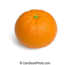 Fresh ecological clementines on a white background with...