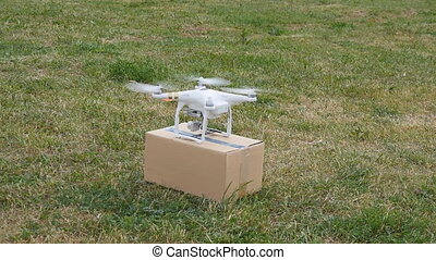Drone delivers parcel - Drone is a great tool for delivering...