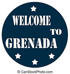 Welcome To Grenada - Label with text Welcome To...