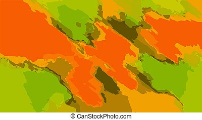 orange brown and green painting abstract background