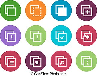 Copy Paste circle icons for Apps, Web Pages - Copy Paste...