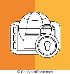 File design. Online concept. Isolated illustration, editable vector