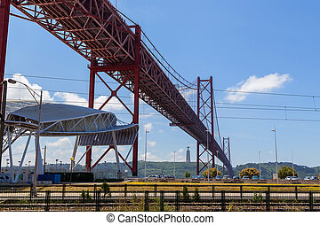 bridge the 25 april on river Tejo
