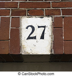 Number 27 - House number twenty seven