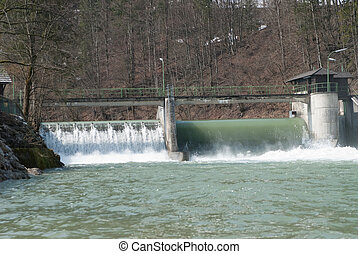 hydropower station - a hydro-electric power plant located in...