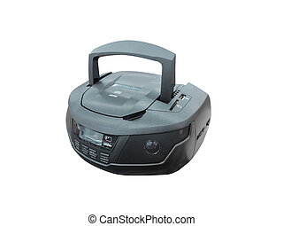 Portable radio cassette recorder with CD/MP3 player under...