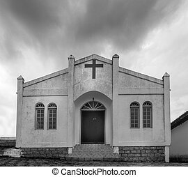 Church in Conceicao lagoon coast in Florianopolis, Brazil. -...