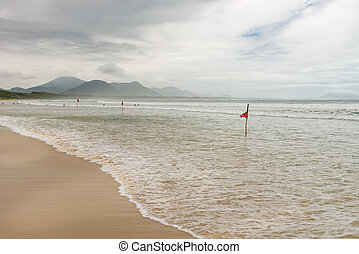 Barra Beach in florianopolis island in South Brazil. - Barra...