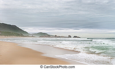 Mole beach in Florianopolis, Santa Catarina, Brazil. One of...