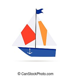 boat cartoon icon illustration
