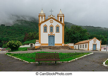 Church in Ribeirão da Ilha, Florianopolis, Brazil. - Church...