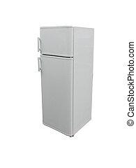 sombre, gris, réfrigérateur