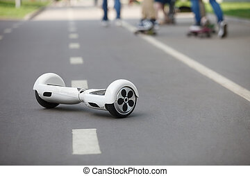 Electric mini hover board scooter, city transport - White...