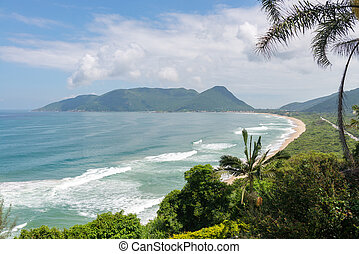 Armacao beach in Florianopolis, Santa Catarina, Brazil. One...