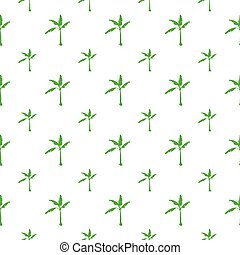 seamless pattern with banana tree
